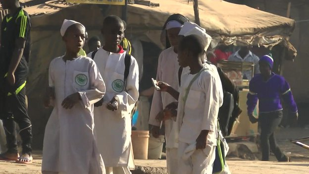 School children in Jos city, January 2015