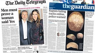 Telegraph/Guardian front pages
