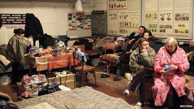 Shelter in Donetsk. 28 Jan 2015