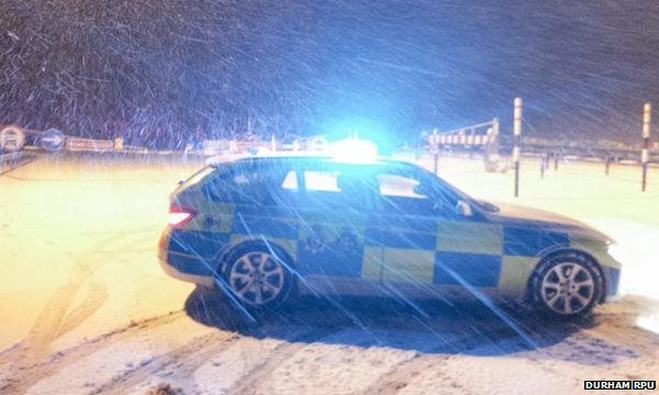 Police car in snow