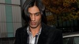 Mohammad Amir outside Southwark Crown Court in London