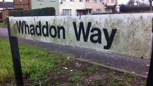 Whaddon Way sign