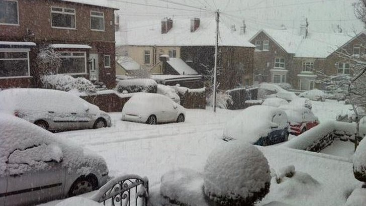Snow in Crookes, Sheffield