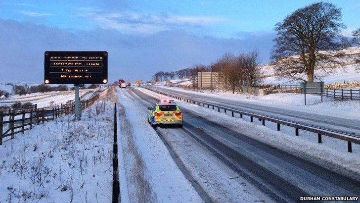 Snow on A66