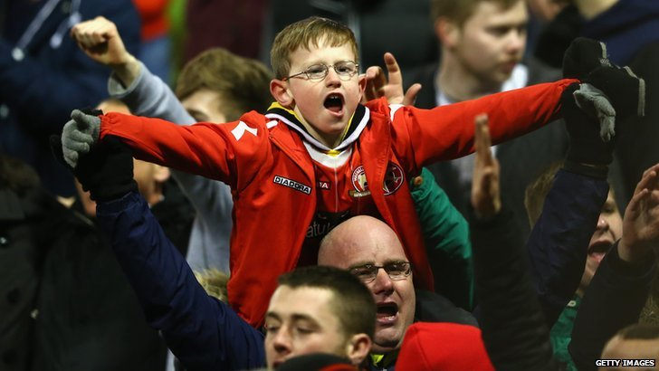 Young Walsall FC fan