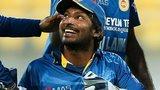 Kumar Sangakkara celebrates