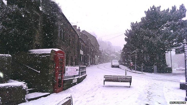 Snow in Haworth