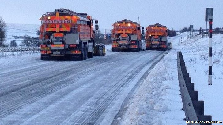 Gritters on the A66