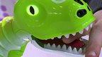 A toy dinosaur