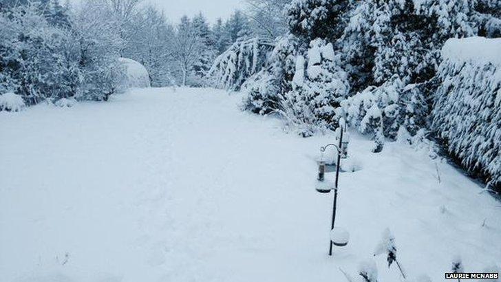 Corsock snow