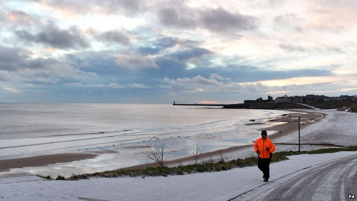 Snow in Tynemouth