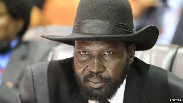 Salva Kiir in Kampala, Uganda (5 September 2013)