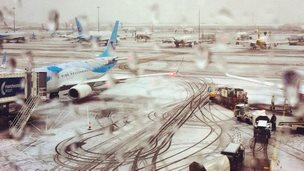 Snow at Manchester Airport