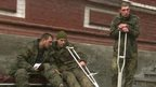 Injured Ukrainian troops