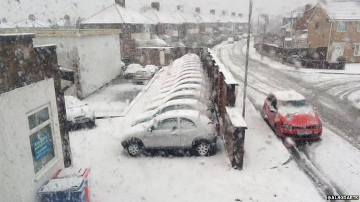 Snow in St Helens