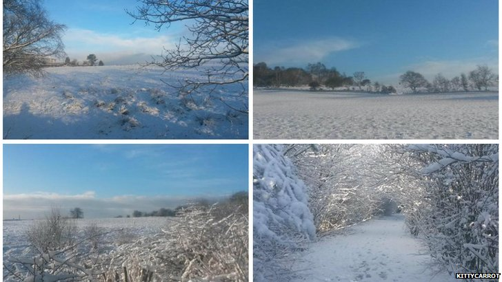 Snow picture collage