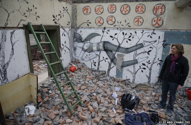 Frenchman Julien Malland has also been covering Shanghai's walls