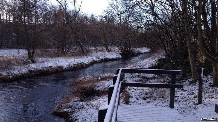 The Bannockburn with snowy banks