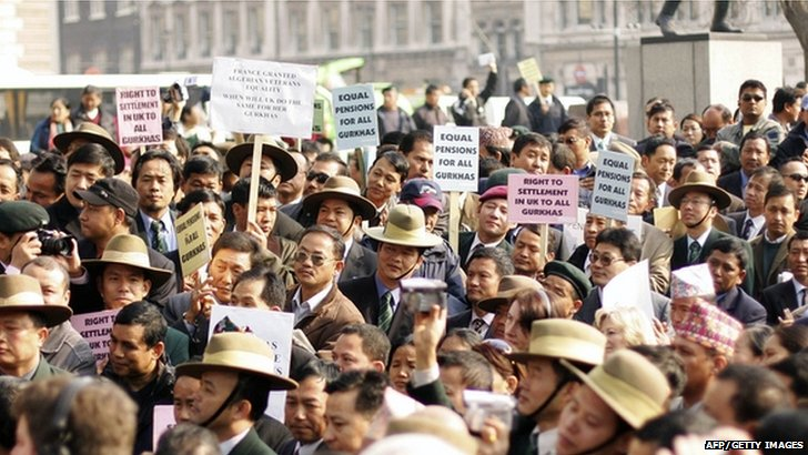 Gurkha protesters in 2007