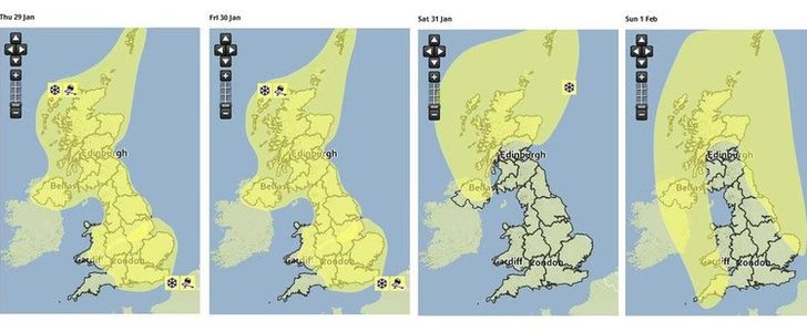Severe weather warnings for UK snow and ice have been issued