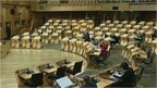 MSPs question Scottish government ministers during general question time.