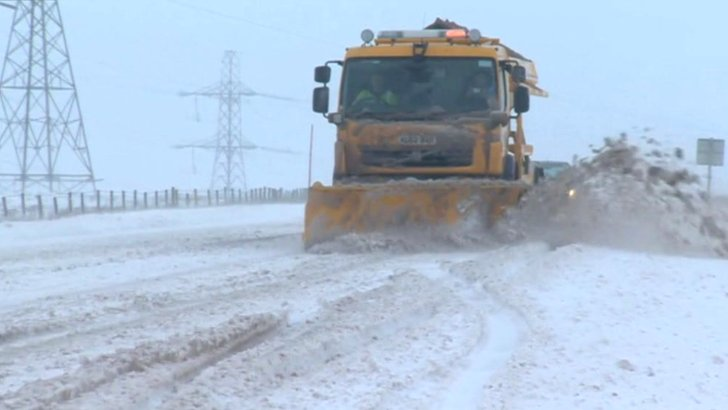 Snow ploughed from the roads