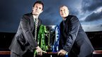 Celtic manager Ronny Deila and Rangers caretaker manager Kenny McDowall