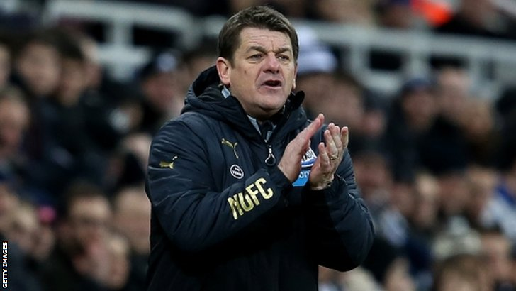 Newcastle head coach John Carver