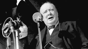 Winston Churchill in 1945