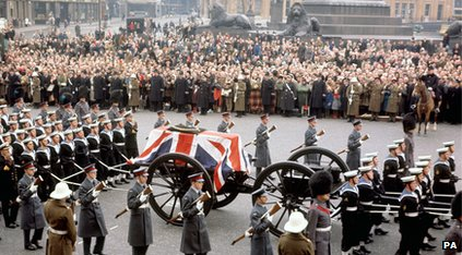 Winston Churchill's state funeral in 1965