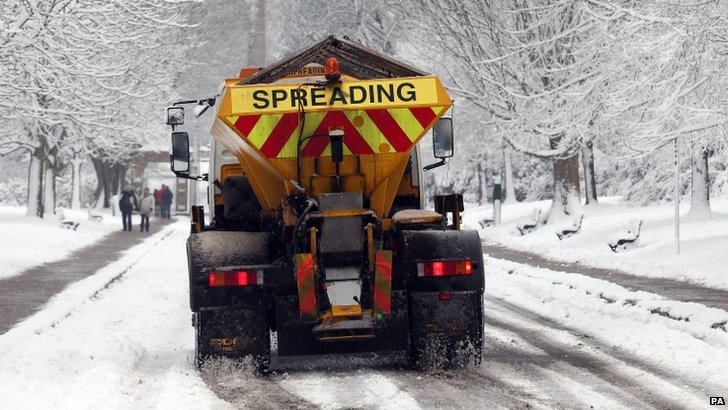 Gritting lorry generic