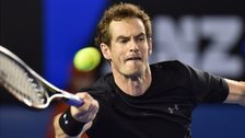 Andy Murray in action in the Australian Open semi final