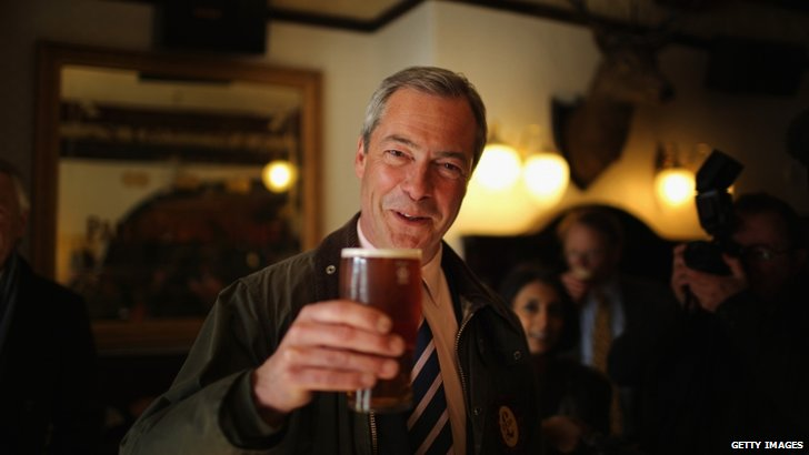 Nigel Farage in the pub