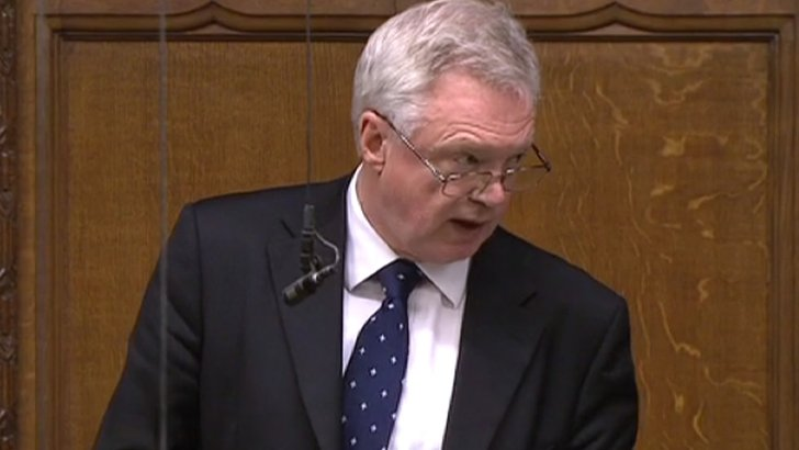 David Davis in the Commons