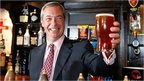 Nigel Farage with pint