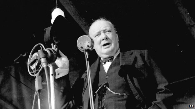 Winston Churchill making a speech