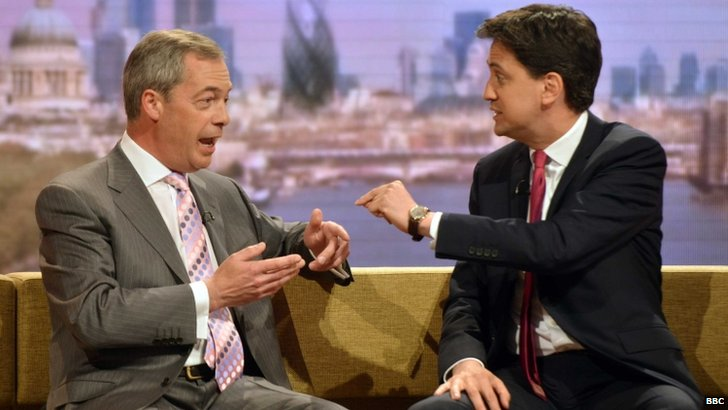 Ed Miliband and Nigel Farage