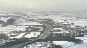 The M62 in the snow