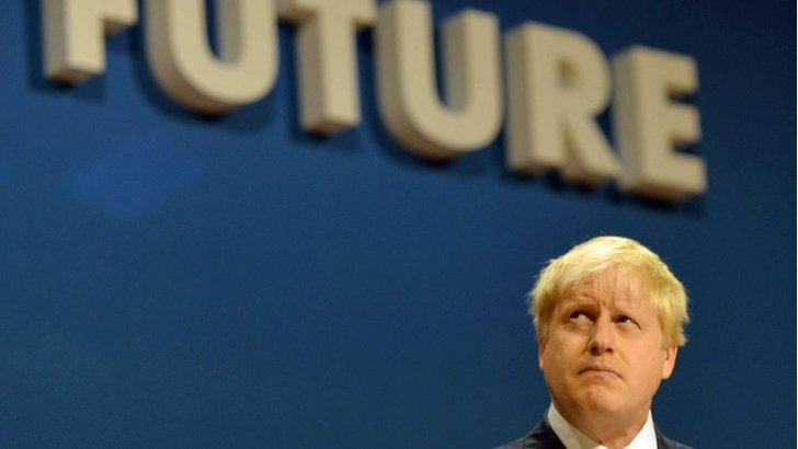 Boris Johnson at the Conservative party conference
