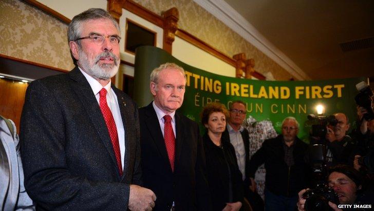 Sinn Fein's Gerry Adams