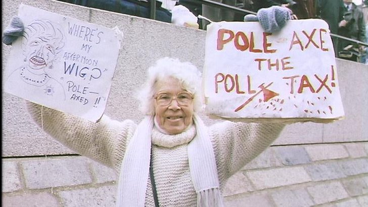 Protester against the poll tax