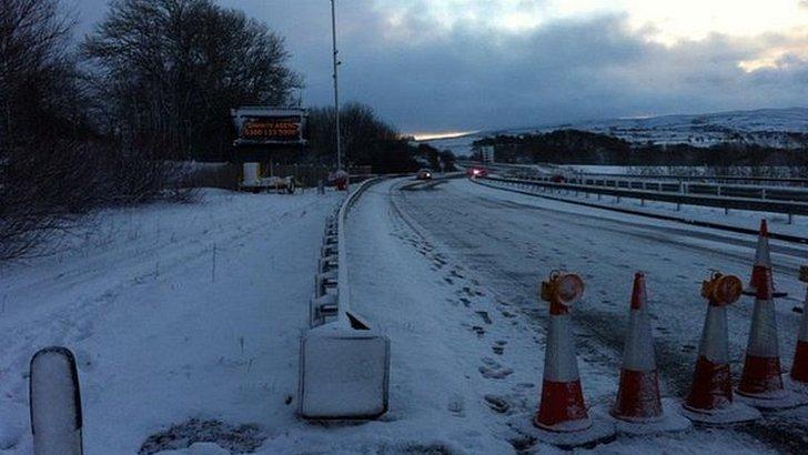 A66 road closure in Cumbria