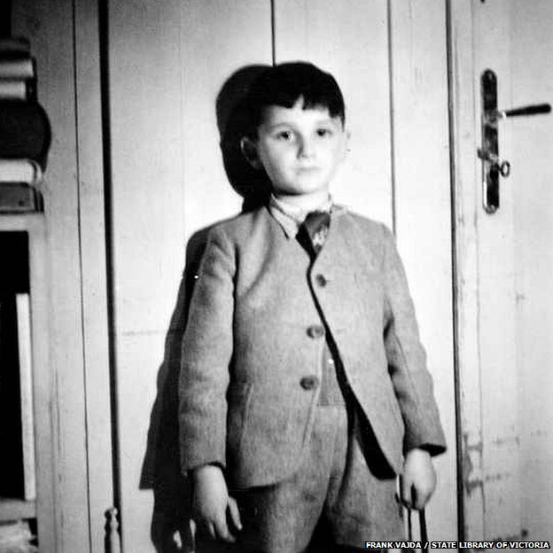 Frank Vajda when he was eight years old
