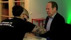 Rory Cellan-Jones being chipped