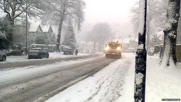 Gritting in South Yorkshire