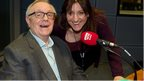 Ed Doolan with Caroline Martin in the studio