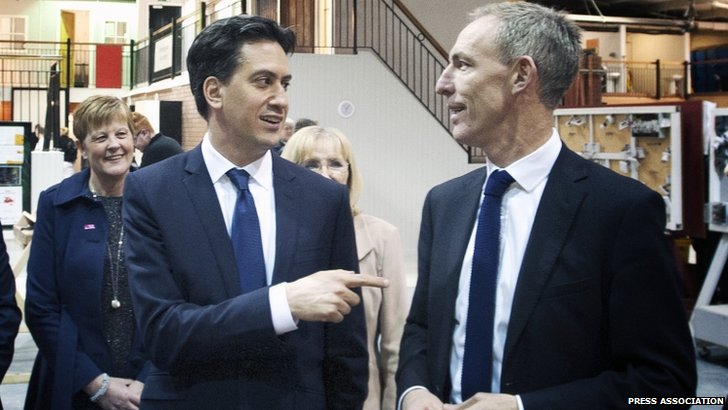 Ed Miliband and Jim Murphy