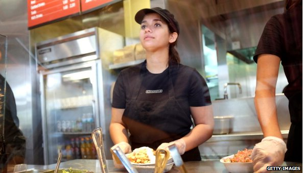 Chipotle worker