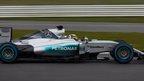 Hamilton drives new Mercedes F1 car