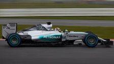 Lewis Hamilton driving new Mercedes